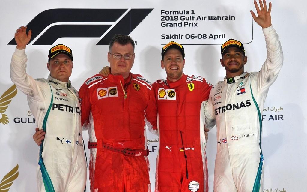 F1: Vettel powers Ferrari to sensational victory as drama in pit lane halts Raikkonen