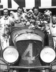 The famous Bentley Boys winning the 1930 Le Mans 24 Hour race in the Bentley Speed Six