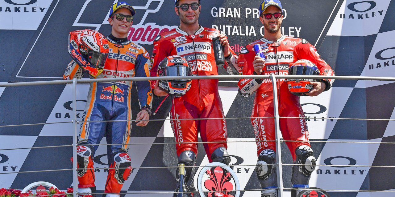MotoGP: Petrucci holds off Marquez and storms Mugello for his first Grand Prix win