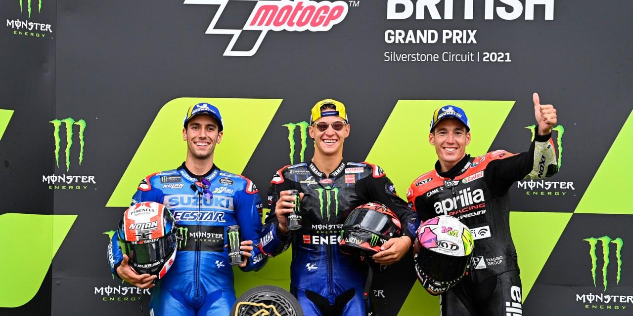 MotoGP: Quartararo wins, Rins second as Aleix Espargaro makes history for Aprilia at Silverstone