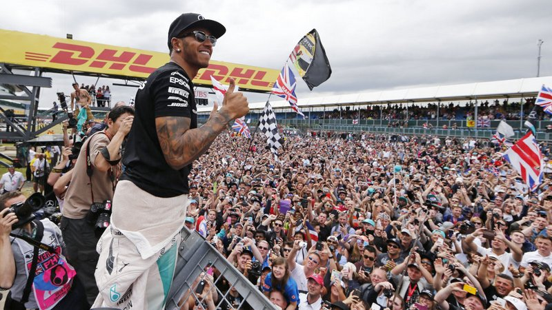 F1: Lewis Hamilton claims emotional home win at Silverstone under rainstorm