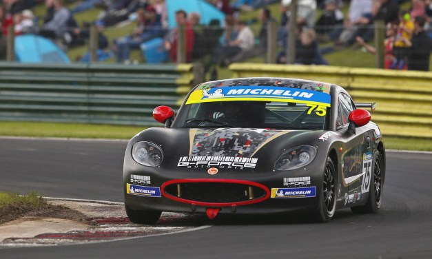 Ginetta: Young Kuwait racer Haytham Qarajouli unveils new car design as rain stops play at Croft Circuit