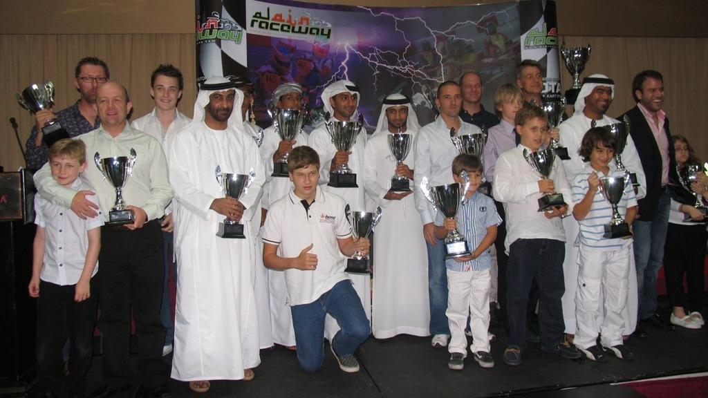 Karting: Al Ain Raceway awards the AARKC RMC class winners