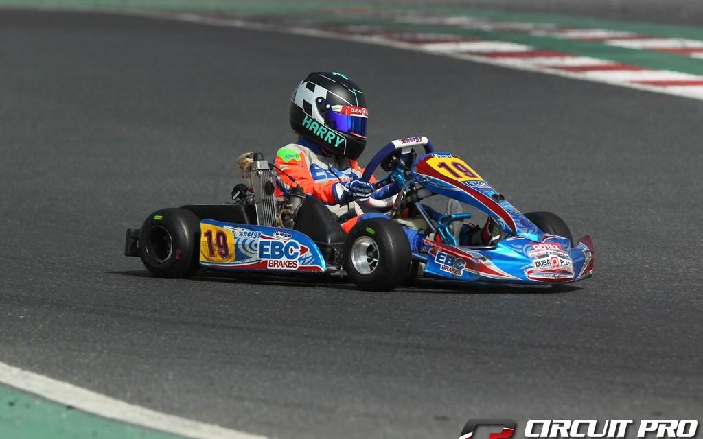Dubai: Harry Hannam luckless at the 'O' Plate Championship round at the Dubai Kartdrome