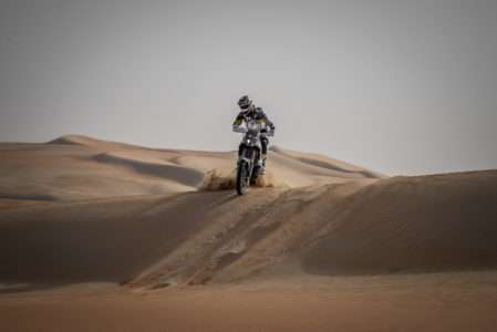 Pierre Alexandre Renet claimed the motorcycle stage win for Husqvarna