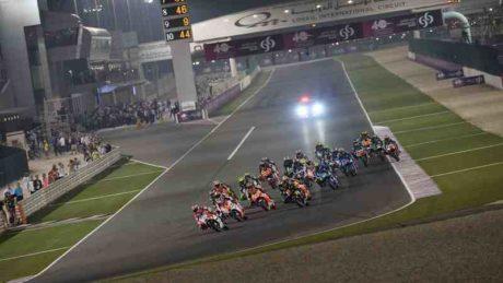 Start of the MotoGP Race in 2015