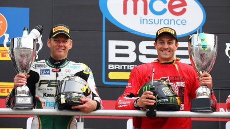 Shane Byrne left with Champ Josh Brookes right