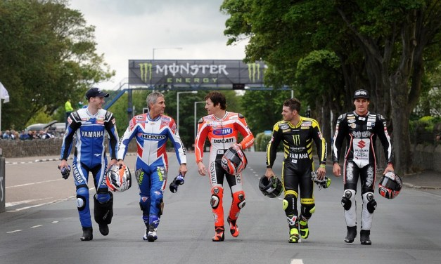 IOM TT: MotoGP stars experience the mountain course after rain stops Supersport race