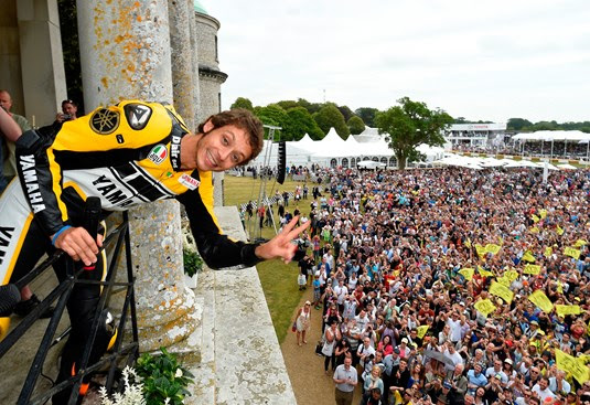 Events: Valentino Rossi celebrates Yamaha's 60th anniversary at Goodwood Festival of Speed
