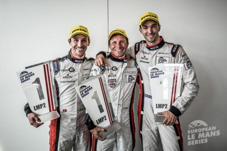 no38 JOTA Sport Gibson-Nissan, with Harry Tincknell scored the British team's first ELMS win of 2015
