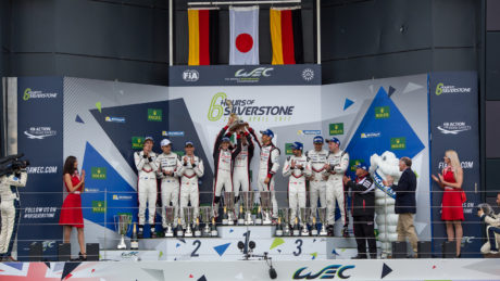 LMP1 Podium at the FIA WEC 6 Hours of Silverstone