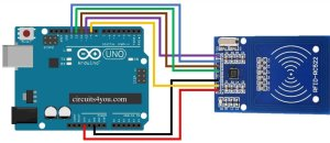 Interfacing of RFID RC522 with Arduino UNO   Circuits4you