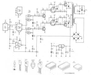 300Watt Inverter DC 24V to AC 220V  Circuit Schematic