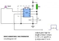 Basic Monostable Multivibrator Circuit Electronic