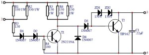 Car Transistor Ignition  Circuit Schematic