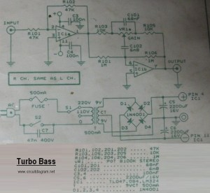 Turbo Bass  Circuit Schematic