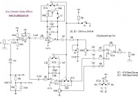 Axe grinder guitar effect circuit electronic