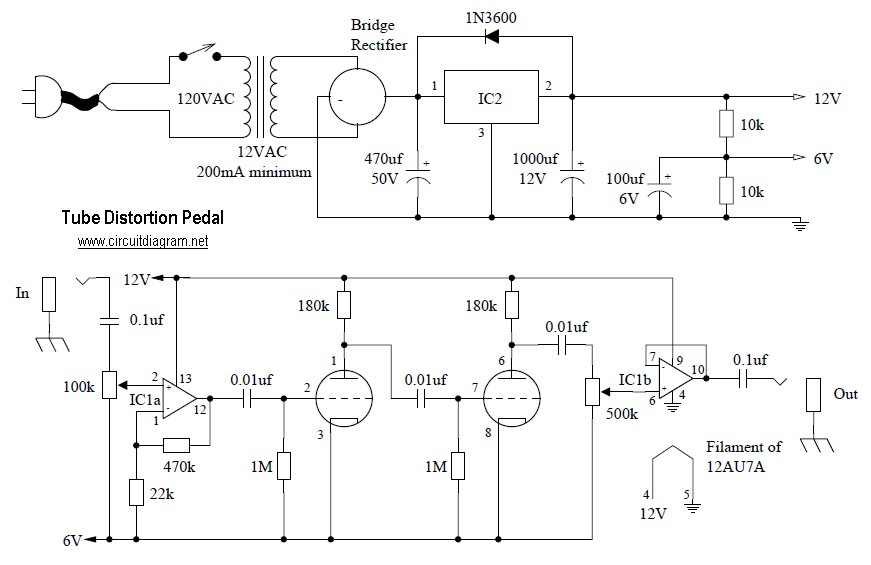 Tube Distortion Pedal circuit diagram?resize=300%2C194 tube distortion pedal circuit schematic fuzz pedal wiring diagram at reclaimingppi.co