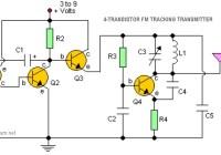 4-transistor FM tracking transmitter