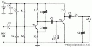 4 Watts FM transmitter circuit