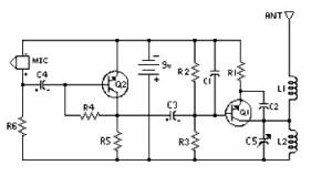 Easy Build FM Transmitter  Circuit Schematic