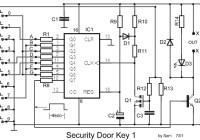 Digital Electronic Door Lock Security Key Circuit