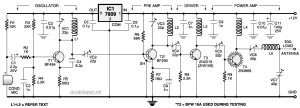 4 Stage FM transmitter circuit diagram