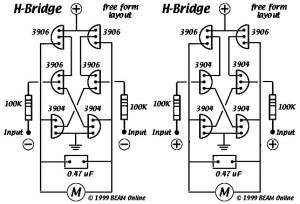6 Transistors Tilden H-Bridge Circuit Diagram