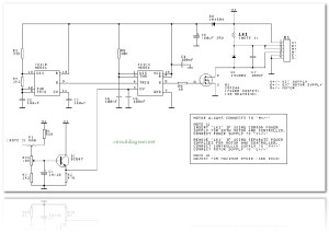 DC Motor Speed Controller  Circuit Schematic