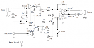 Stage Center Reverb guitar effect circuit diagram
