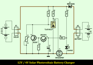 12V 4A Solar Photovoltaic Charger Schematic