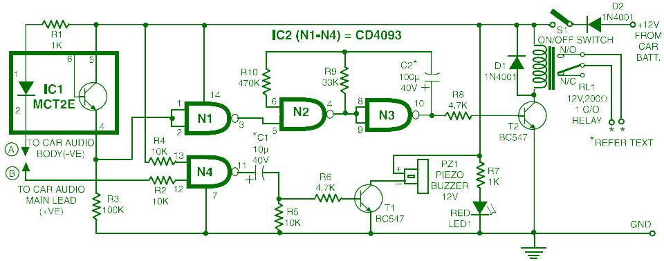 Car Audio System Anti Theft Security Circuit?fit=960%2C378 car audio system anti theft security circuit schematic car alarm circuit diagram at aneh.co