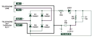 Home Telephone Call Recorder  Circuit Schematic