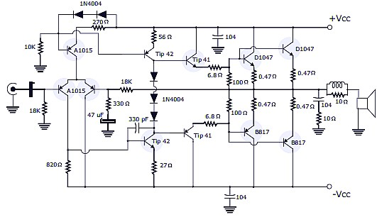 400w Rms Stereo Power Amplifier Schematic Amp Pcb Design