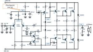 120W Power Amplifier  Power Supply  Circuit Schematic