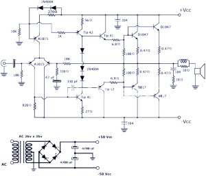 200W Power Amplifier : Schematic Diagram & PCB Design