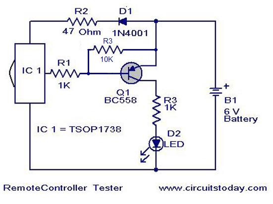 Wiring Free: Remote Control Tester Circuit Jacky March 24