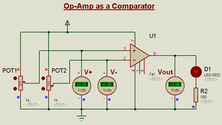 Op Amp Circuits In Proteus