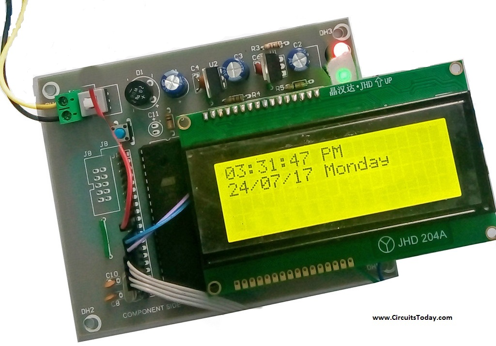 Build Real Time Clock Using 8051 And DS1307 RTC Module