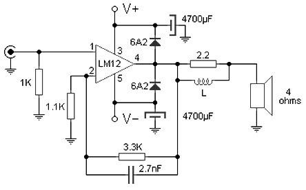 100w audio amplifier based M12CLK