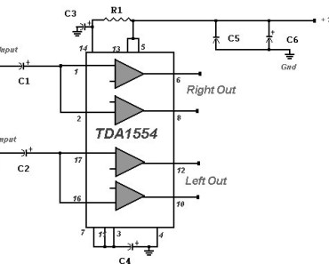 22-Watt-Stereo-Amplifier-with-Power-IC-TDA1554
