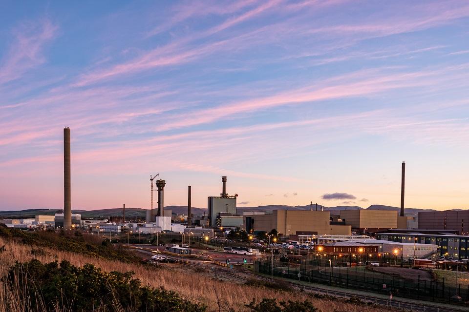 Sellafield ltd, at dusk