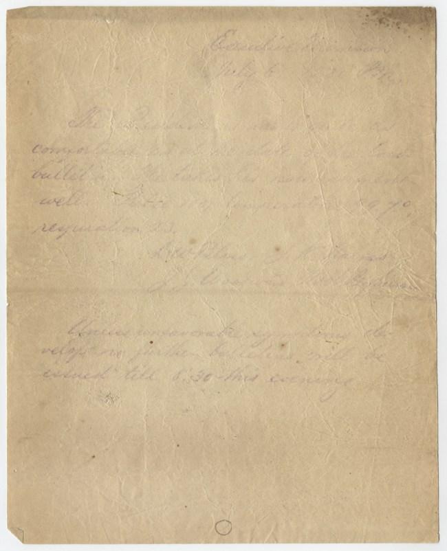 A barely legible manuscript
