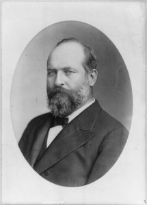 Photographic portrait of President James A. Garfield