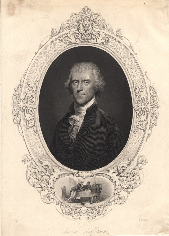 Portrait of Thomas Jefferson in middle age
