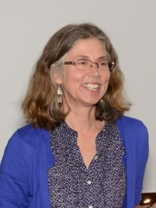 Diane Wendt, speaking at the Library
