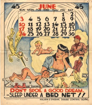 Malaria pin-up calendar