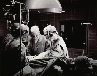 Photograph of open-heart surgery, NIH
