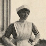 Mary Dexter in a nurses uniform.