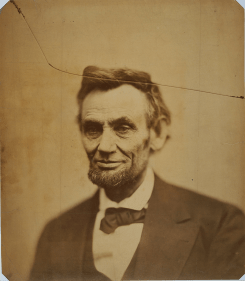 photgraphic portrait of President Abraham Lincoln